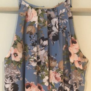 Blue Rain floral dress